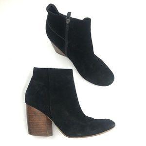 Crown Vintage stacked heel bootie suede boot
